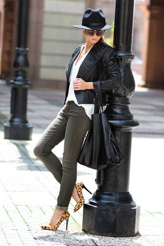 sunglasses shoes jewels jacket jeans bag shirt sirma markova hat black fashion