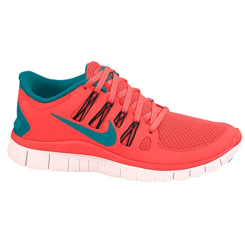 Nike Free 5.0  - Women's - Running - Shoes - Atomic Red/Tropical Teal/Black