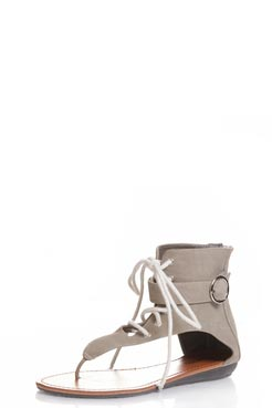 Kate lace up thong gladiators with side buckle detail at boohoo.com