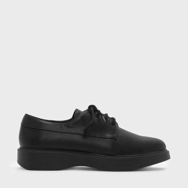 flats lace black shoes