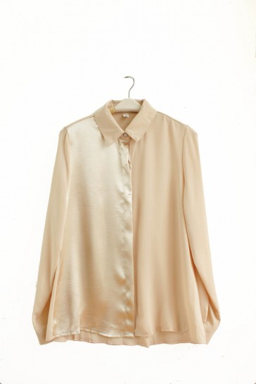 Combined Shimmer Shirt in Creme - ChocoChips Boutique
