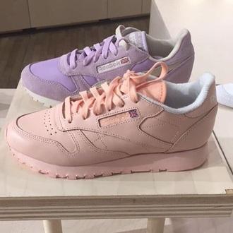 shoes style streetwear streetstyle pink minimalist shoes reebok sneakers 90s style pastel sneakers pastel dope cute