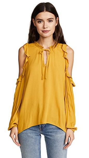 BB Dakota blouse gold top