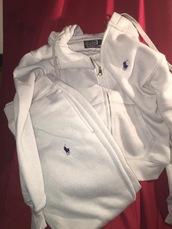 jumpsuit,ralph lauren polo,ralph lauren,tracksuit,jacket,pants,white