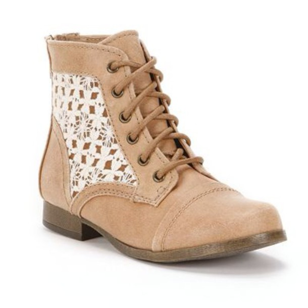 brown combat boots with lace | Gommap Blog