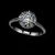 Sparkling White Gold Rhodium Plated Diamond Anniversary Ring W/ 0.75ct Swiss CZ - Avail In Sizes 5.5 on Luulla
