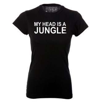t-shirt my head is a jungle jungle top jungle black t-shirt music slogan black ontrend festival slogan top song lyrics music shirt