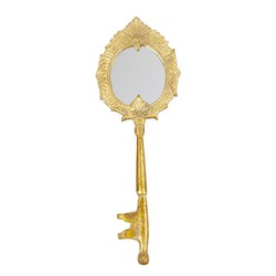 Hand mirror key shaped
