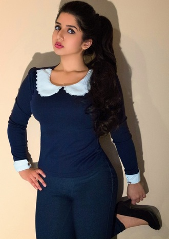 blouse peter pan collar preppy business professional