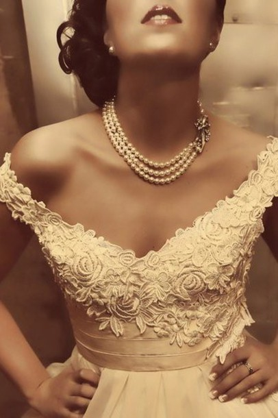 wedding dress lace top