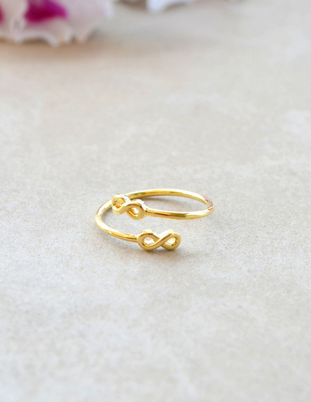 jewels ring gold ring gold gold rings double ring infinity infinity ring