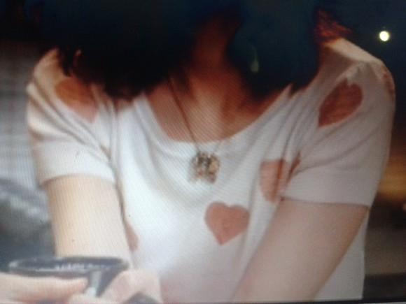 heart t-shirt blanc coeur