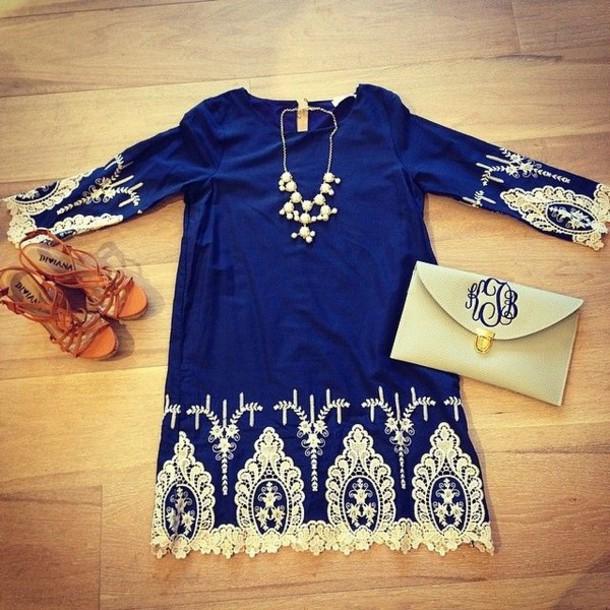 dress dress xaftan kaftan cute dress lace dress blue dress