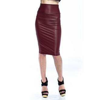 faux skirt oxblood sylvi label sylvi label burgundy
