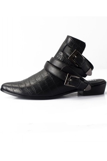 Leather Buckled Flats [is00170]- US$99.99 - PersunMall.com