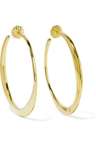 earrings hoop earrings gold jewels