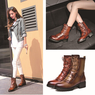 shoes genuine middle heel martin botts women boots