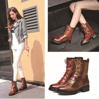 shoes middle heel genuine martin botts women boots the middle