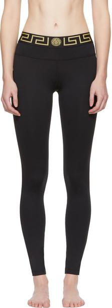 VERSACE UNDERWEAR leggings black pants