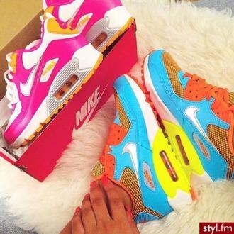 shoes nike nike shoes nike air max 90 air max free runs trainers sneakers nike black pink