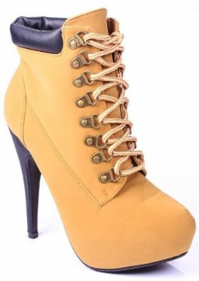 Amazon.com: JJF Shoes Compose01 Tyrant Military Lace Up Platform Ankle Bootie Stiletto High Heel: Shoes