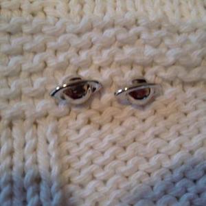 """Cute silver """"planet"""" earrings bonus silver bracelet"""