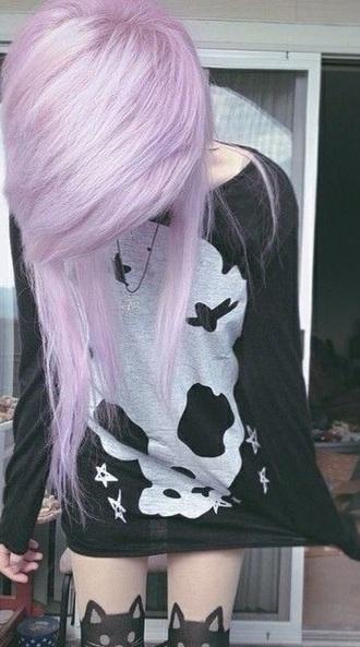 shirt skull cute emo goth gothi goth shirt emo skull sweater skullsweater