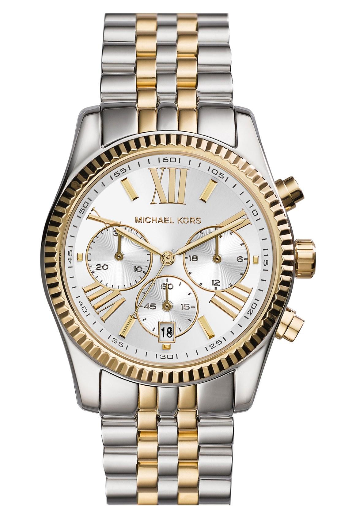 99b712935c97 Michael Kors  Lexington  Chronograph Bracelet Watch