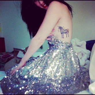dress sequin dress new year's eve tattoo