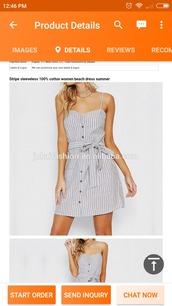 dress,cotton,sleeveless dress,striped dress