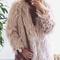 Portofino faux fur jacket in blush