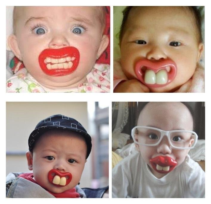 Funny buck teeth baby infant dummy nuk pacifier nipples lips thumbsucker soother we recommend that all pacifiers are sterilised before use