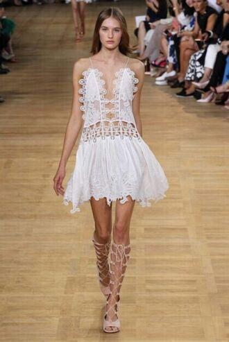 dress chloe white boho