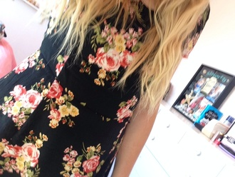 dress black floral girl's clothes
