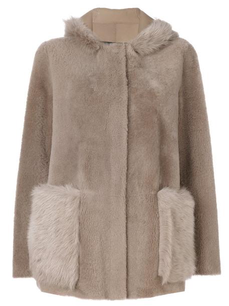 BLANCHA coat fur fox women nude