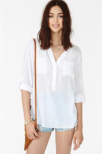 blouse nastygal ivory