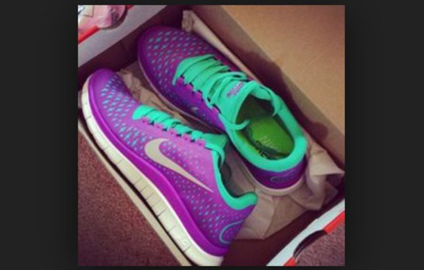 shoes nike sneakers purple shoes mint green shoes