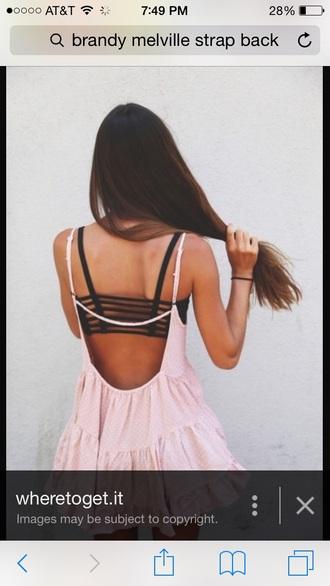 top bra underwear striped dress style brandy melville fashion black dress black bikini black heels black jeans