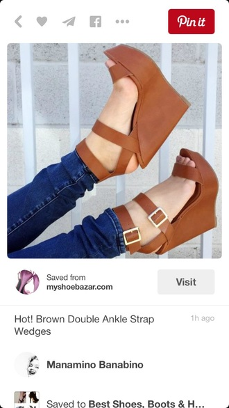 shoes wedges brown sandal heels sandals cute high heels cute heels