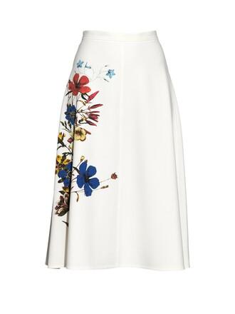 skirt midi skirt midi floral print white