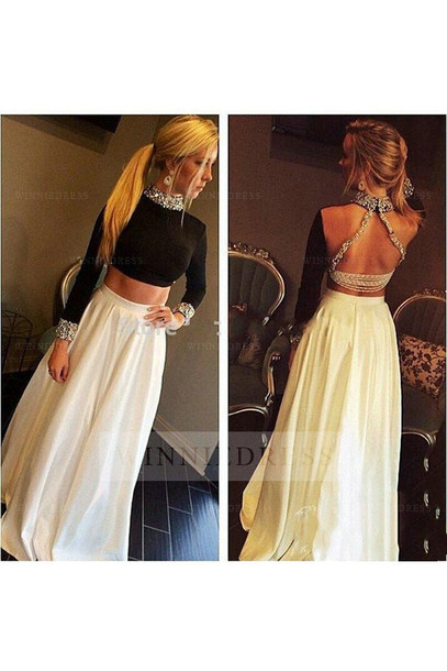 Dress 2 Piece Skirt Set Two Piece Prom Dresses Two Pieces Prom