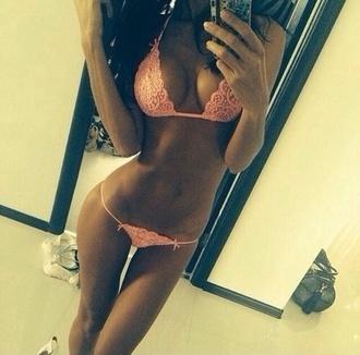 swimwear bikini coral lace string