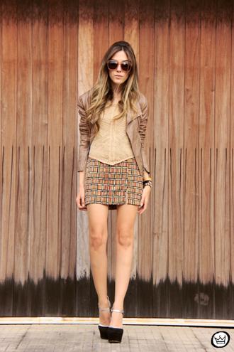 fashion coolture jacket top skirt sunglasses shoes