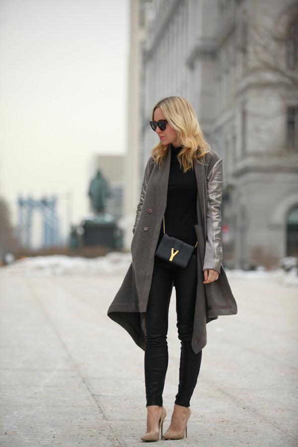 brooklyn blonde coat pants shoes sunglasses bag