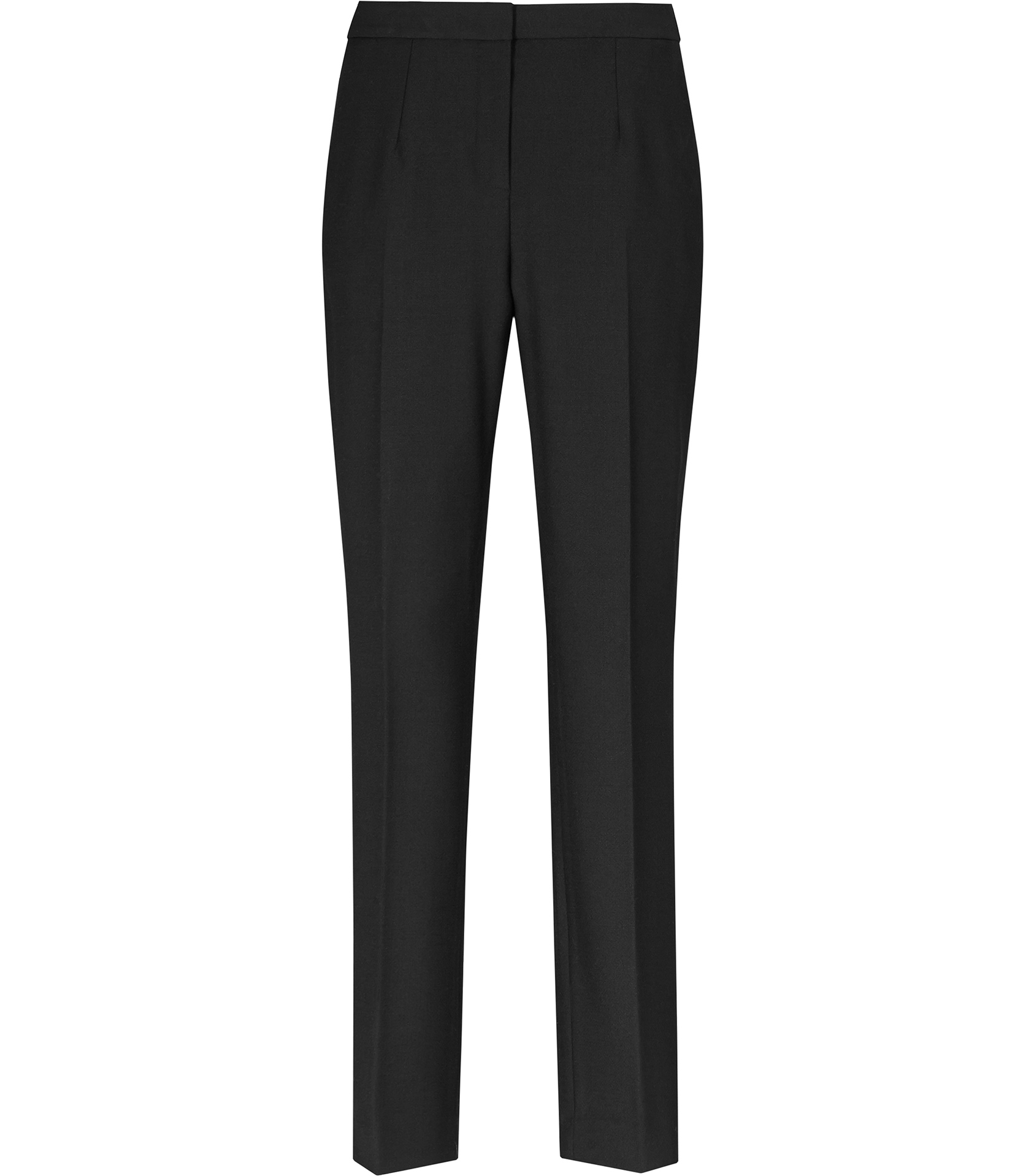 Arola Black Straight Cut Fitted Trousers - REISS