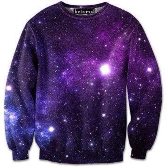 crewneck galaxy sweater