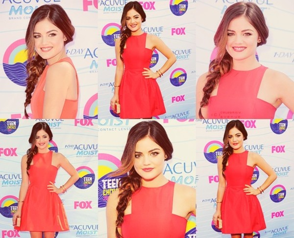 dress red lucy hale cotton pretty little liars