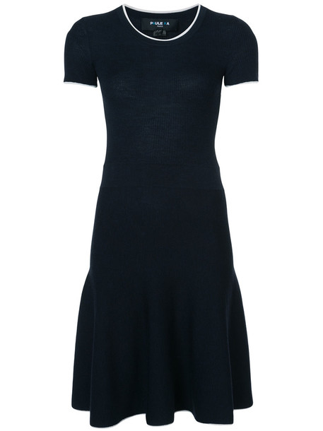 PAULE KA dress belted dress women spandex black wool