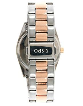 Oasis | Oasis – Zweifarbige Armbanduhr im Vintage-Stil bei ASOS