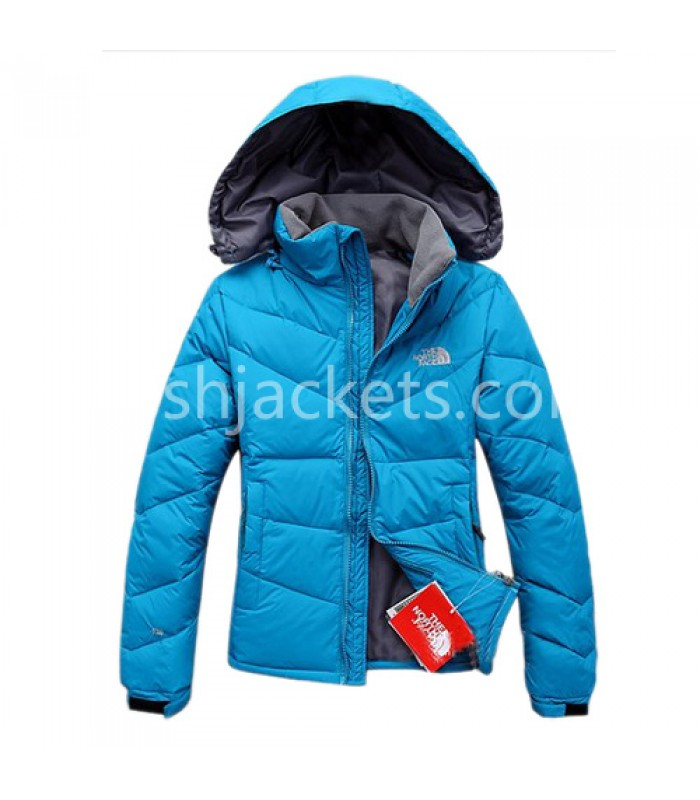 North Face Womens Outdoor Down Jacket Blue Bj130054